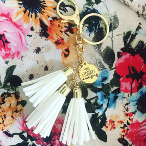 Make Today Amazing {Tassel Keychain}