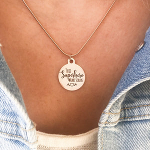 This Superhero Wears Scrubs {Necklace}