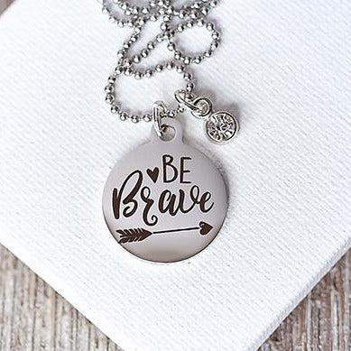 Be Brave {Youth Necklace}