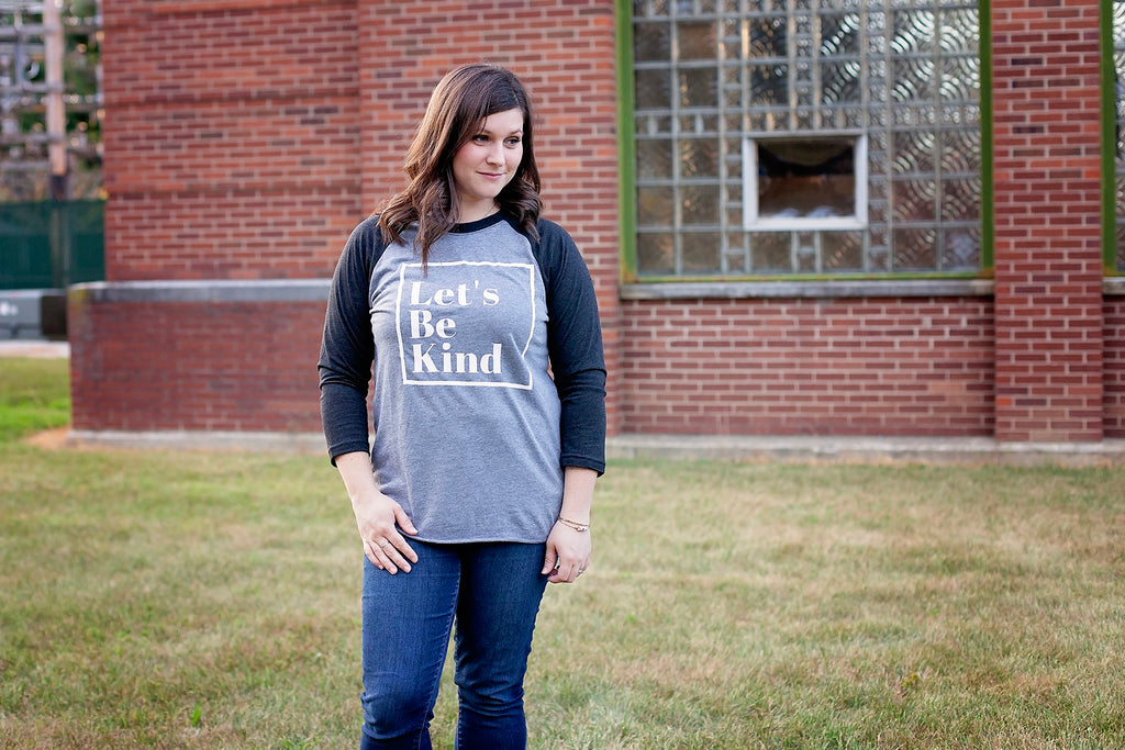 Let's Be Kind Raglan (Adult)