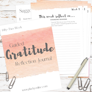 Printable Guided Gratitude Journal