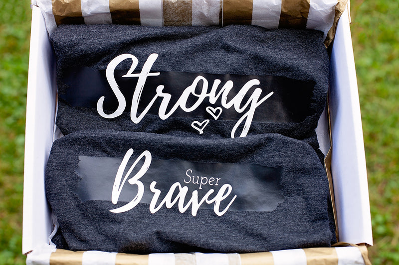 You've Been Noticed Gift Set {Strong Mama & Super Brave Child Shirts}