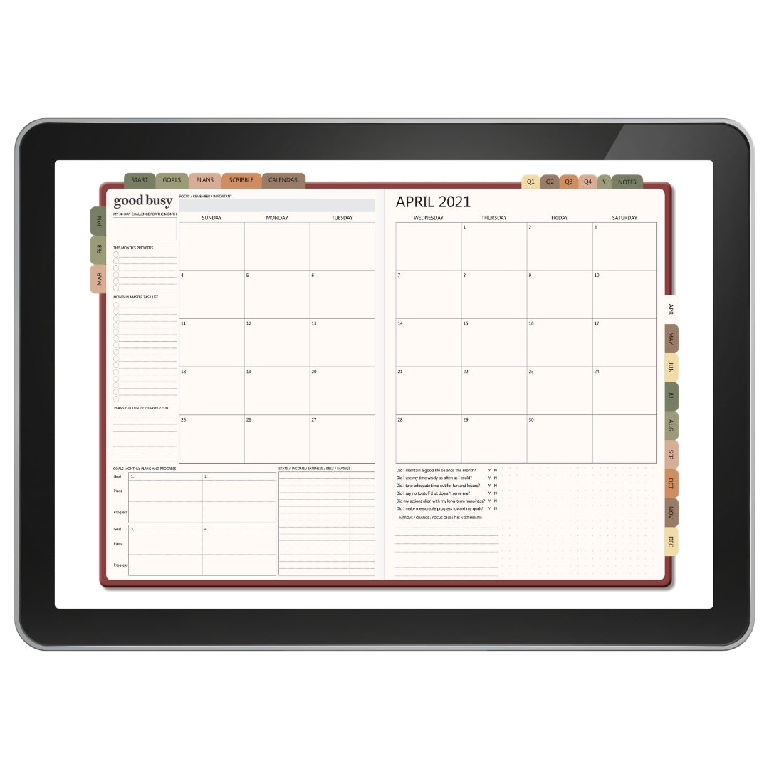 2021 Weekly Digital Planner - Clay