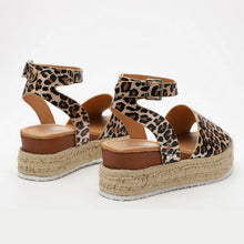 Load image into Gallery viewer, Cheetah Boho Sandals