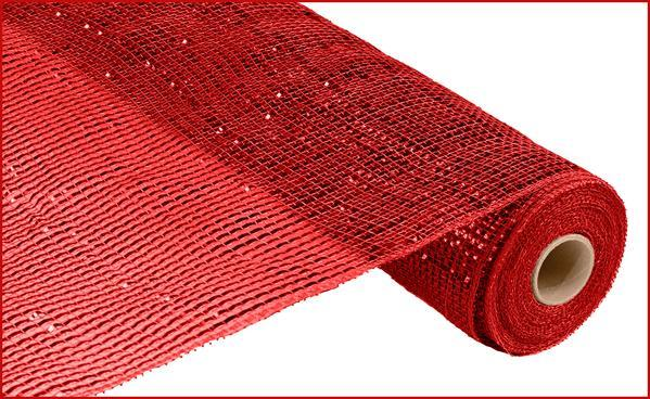 21in x 10yd - Deluxe Wide Foil Mesh - Red