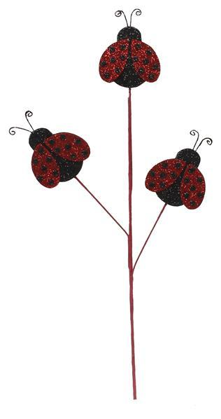 "25""L Glitter Lady Bug Pick"