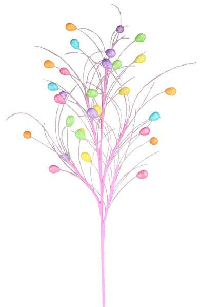 "31""L Glitter Easter Egg/Grass Spray - Pick"