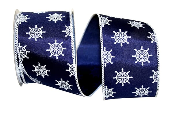 "2.5""x10yd Ships Wheel - Navy/White"