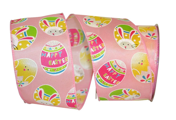 "2.5""x10yd Easter Egg Fun - Pink/Multi"