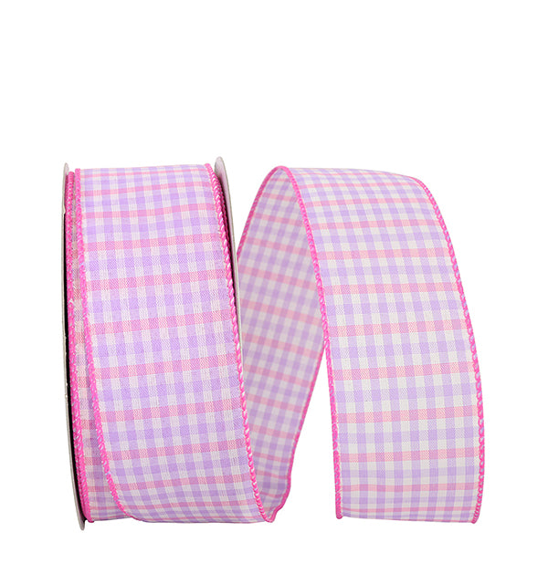 "2.5""x50yd - Gingham Check - Multi Pastels"