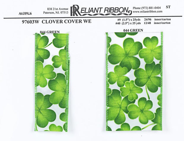 "2.5""x25yd Clover Cover - White/Green"