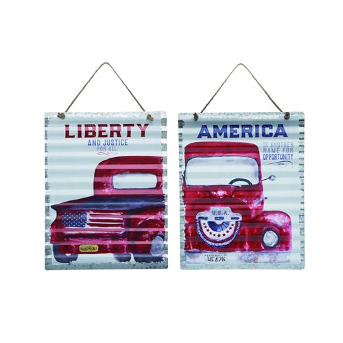 Corrugated American Truck Sign