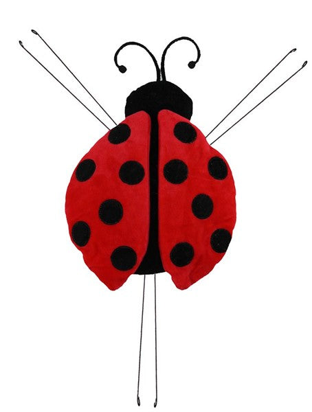 "10""Lx9""W Lady Bug Decor - Red/Black"