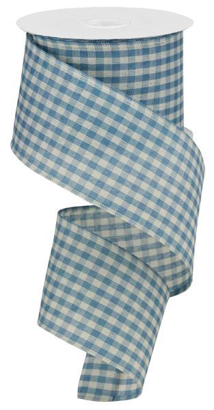 2.5x10 Primitive Gingham Check - Blue/Ivory