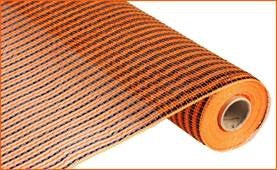 "21""x10yd Deco Mesh - Orange/Black"