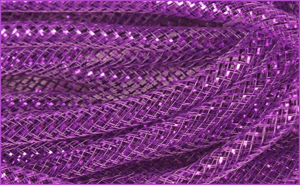 8Mm x 30yd Purplr w/Bright Purple Deco Flex Tubing