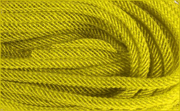 8Mm x 30yd Yellow Faux Jute Flex Tubing