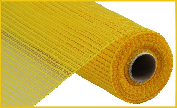 "10""x10""yd Wide Stripe Mesh - Yellow"