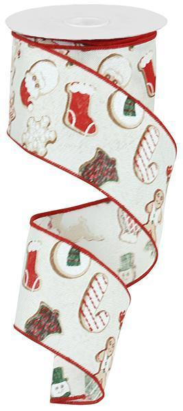 "2.5""x10yd Christmas Cookies on Royal"