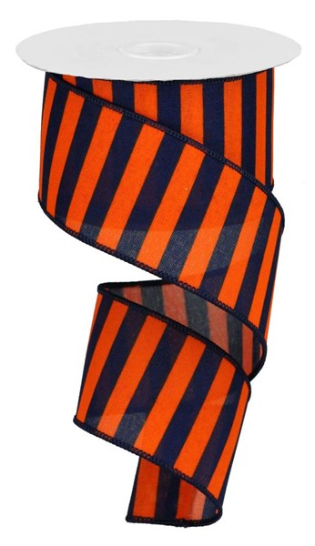 "2.5""x10yd Medium Stripe - Navy/Orange"