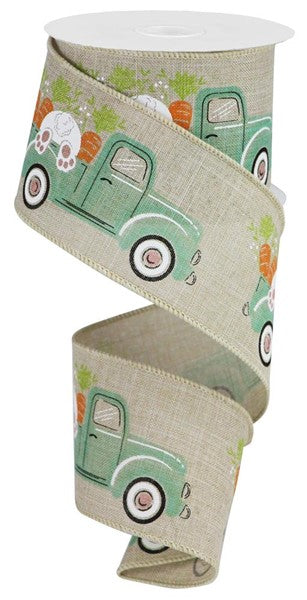 "2.5""X10yd Truck W/Bunny/Carrots On Royal"