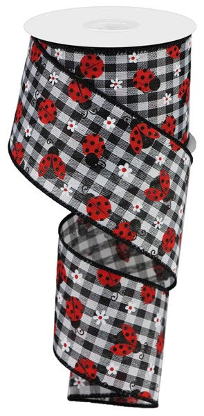 "2.5""X10yd Mini Ladybugs/Check"