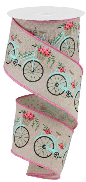 "2.5""x10yd Bicycles - Natural/Multi"
