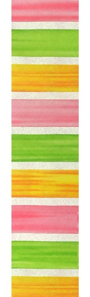 "2.5""x10yd Watercolor Stirpes - Yellow/Pink/Lime"
