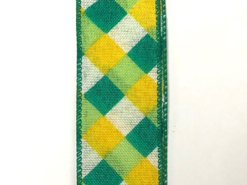 "1.5""x10yd Cross Plaid - Yellow/Green"