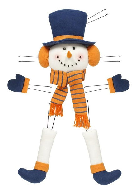 "5 pc 31"" Snowman Decor Kit - Navy/Orange/White"