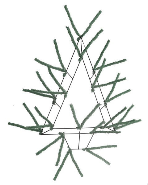 "20"" High Green Pencil Open Wall Tree"