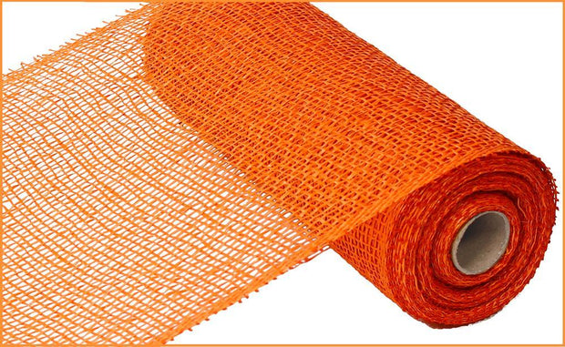 10in x 10yd - Orange Poly Burlap Mesh