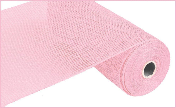 10in x 10yd - Light Pink Poly Burlap Mesh