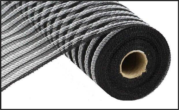 10.5x10yd Poly/Faux Jute - Black/White