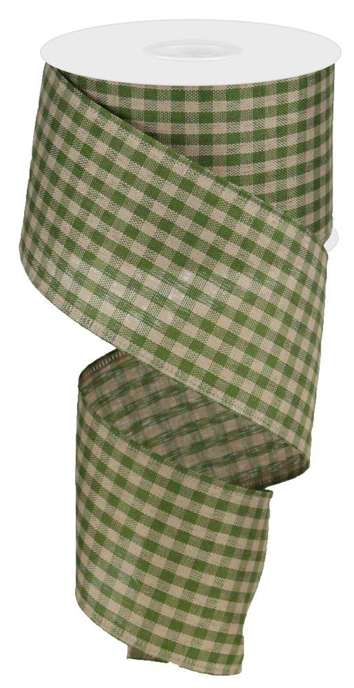 2.5x10 Primitive Gingham Check - Moss Green/Tan