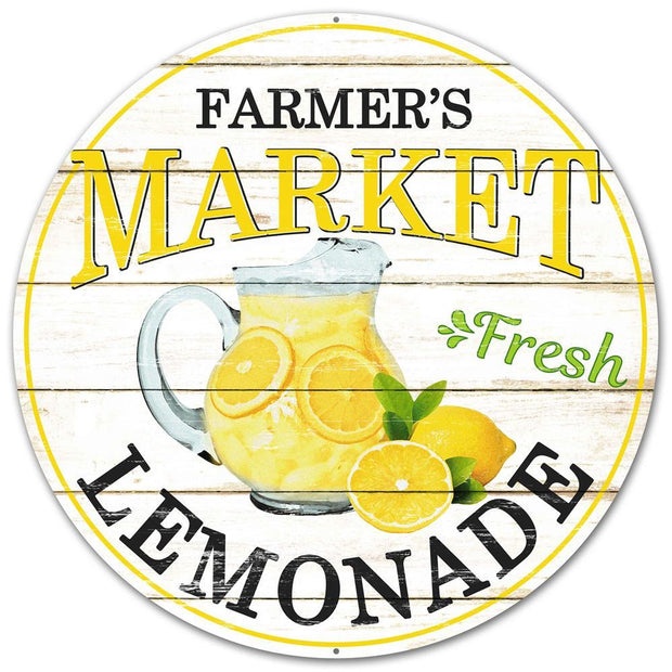 "12""-Black Yellow-Farmers Market Lemonade Sign"