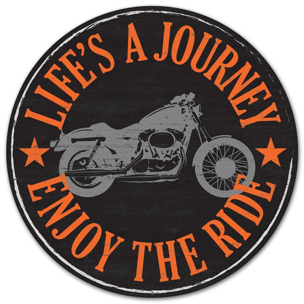 "12"" Diam Motorcycle Sign"