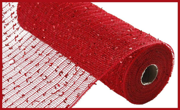 "10.5""x10yd Folded Laser Foil Mesh - Red"