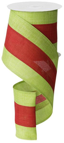 "4"" x 10yd - 3 in 1 Color - Lime/Red"