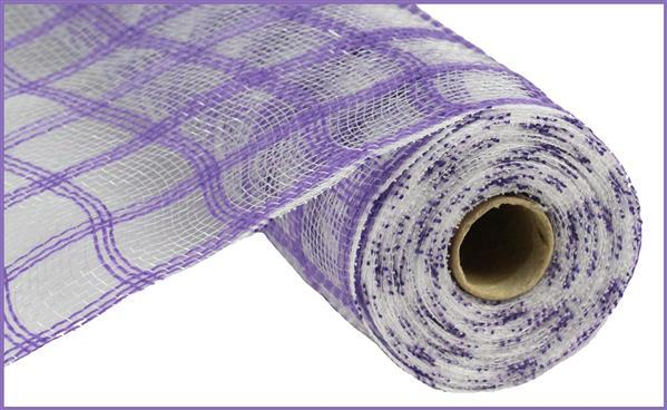 10.5in x 10yd - Purple x 10ydk Faux Jute Check Mesh