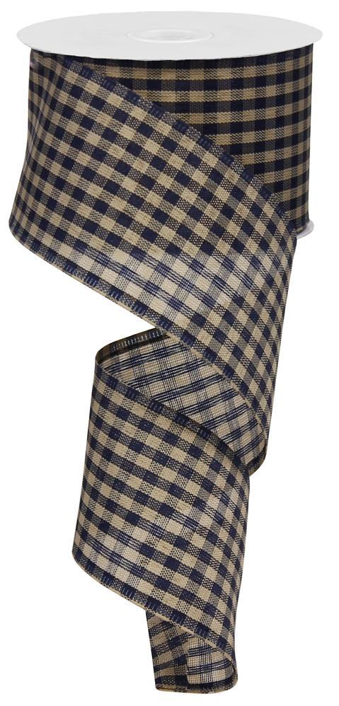 2.5x10 Primitive Gingham Check - Navy/Tan Gingham