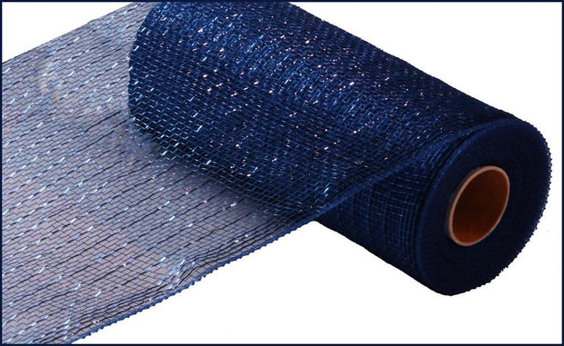 10in x 10yd - Navy/Royal Blue Metallic Mesh