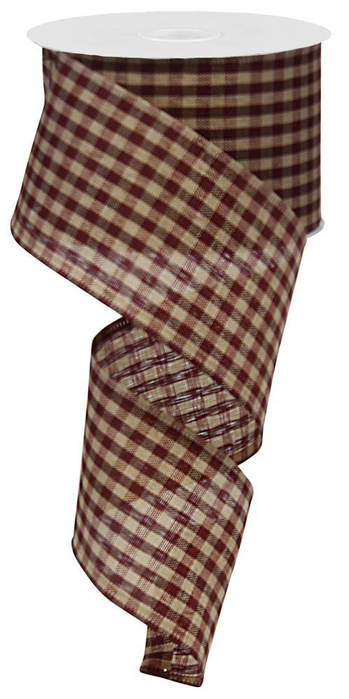 2.5x10 Primitive Gingham Check - Burgundy/Tan