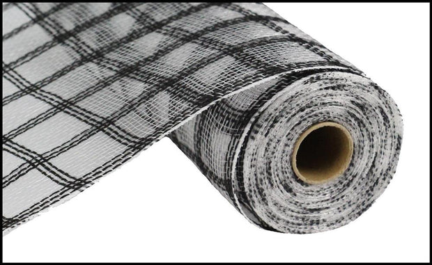 10in x 10yd - Black Jute Check Mesh