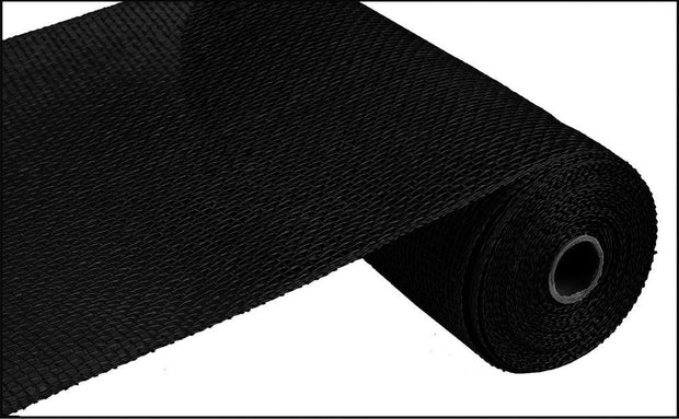 10in x 10yd - Black Poly Burlap