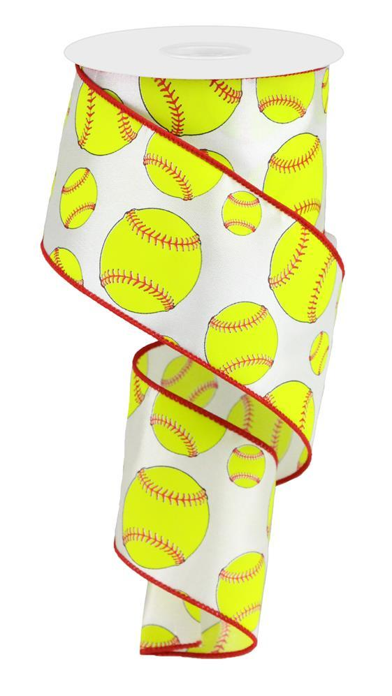 "2.5""x10yd Softball - Neon Yellow/Red"
