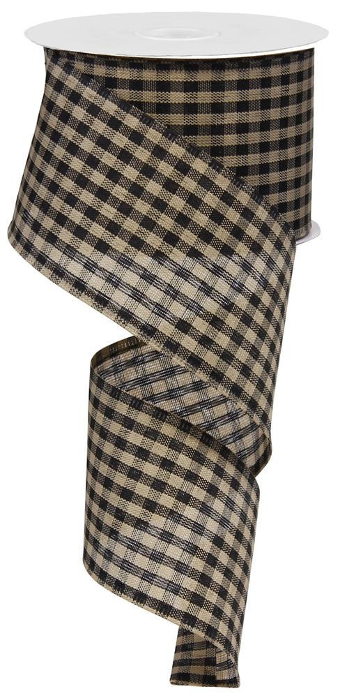 2.5x10 Primitive Gingham Check - Black/Tan