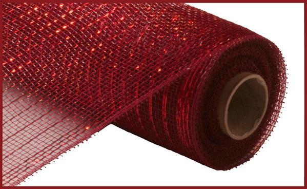 "10""x10yd Metallic Mesh - Burgundy"