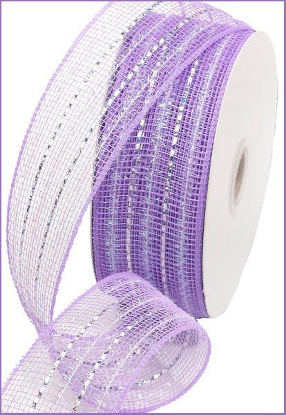 2.5in x 25yd - Lavender Twist Foil Ribbon