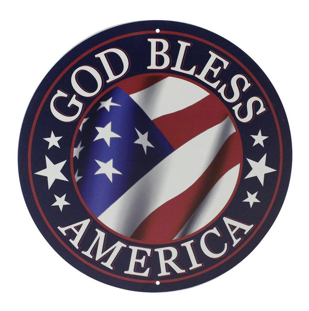 "12""Dia  God Bless America - Red/White/Blue"
